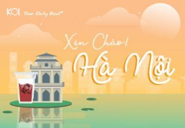 Bring along a cup of KOI to enjoy the characteristic scenery of Hanoi !