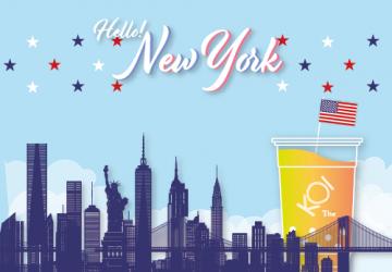 紐約! 帶著KOI一起感受大蘋果的自由魅力吧!